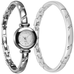 Štýlové doplnky nikdy nevýjdu z módy. Klasický vzhľad Setu hodiniek a  náramku Beauty Bangled sa hodí na každú šik príležitosť. 9636af89cf8